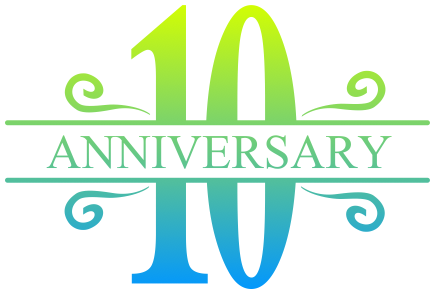 10 year vow renewal logo