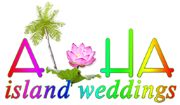 logo for alohaislandwedding.com