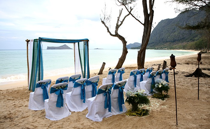 bamboo beach wedding arch