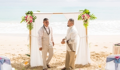 thumbnails of a beauitful wedding over looking the ocean
