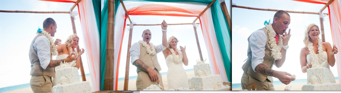 what happens in Hawaii for beach wedding cakes