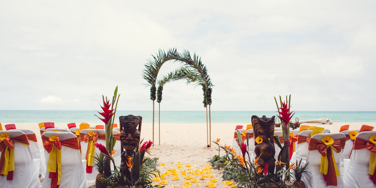 arch with bright hawai colors