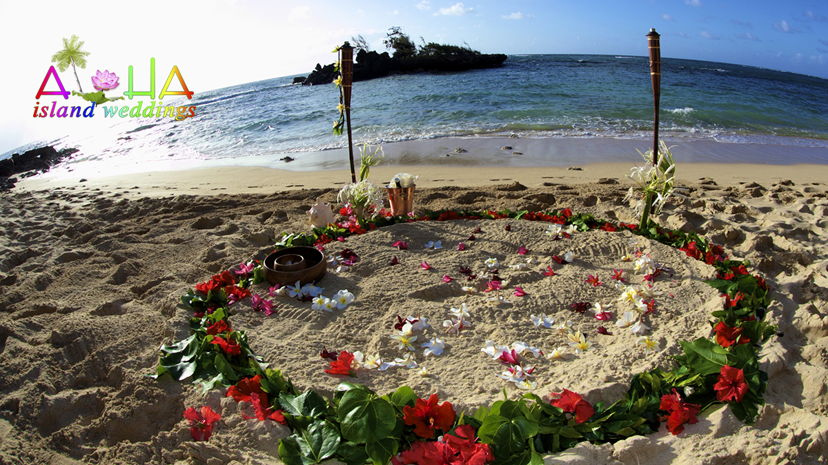 Hawaii Weddings Flower Circles On The Beach In Hawaii