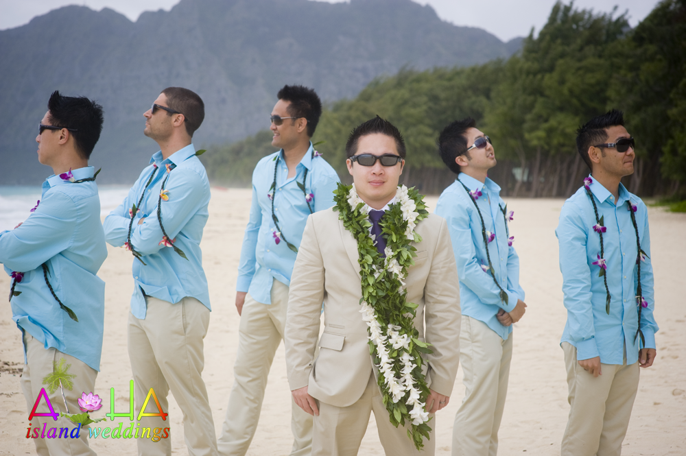 Thr Grooms Men With The Groom Looking Like Tough Guys