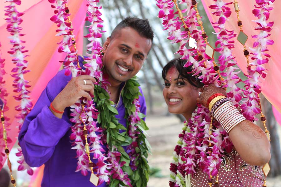 our Hawaii wedding couple from india