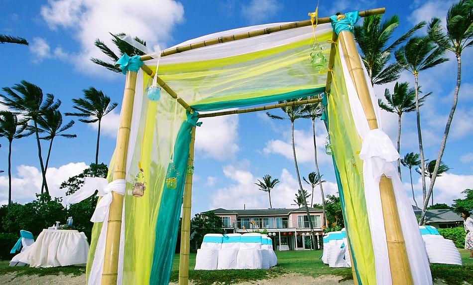 christine zheng and matthew flood wedding setup