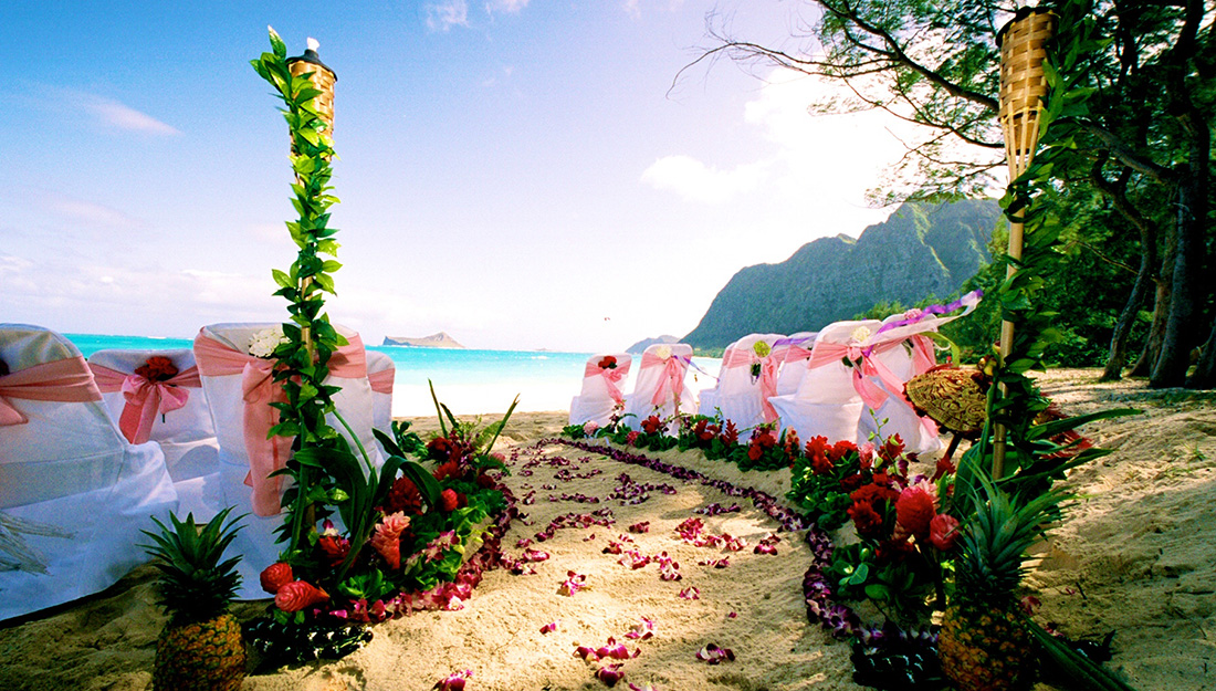 path way to love pineapple beach walkway wedding
