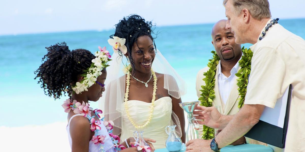 Sa And Vince Hawaii Estate Wedding Ceremony