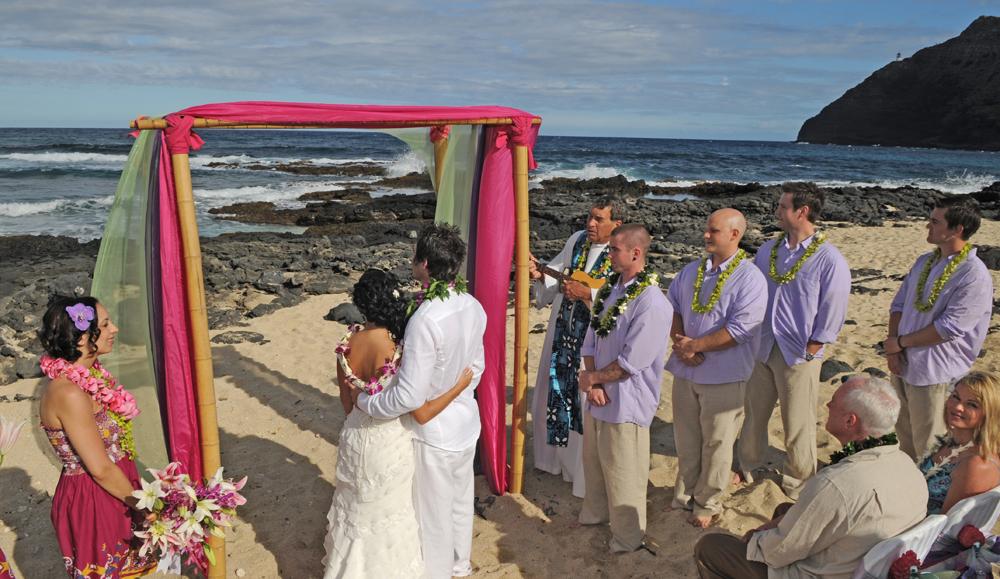 Hawaiian wedding song on the ukulele