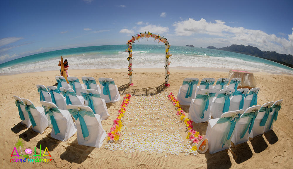 Crystal Hawaii Wedding Blue Ocean Day
