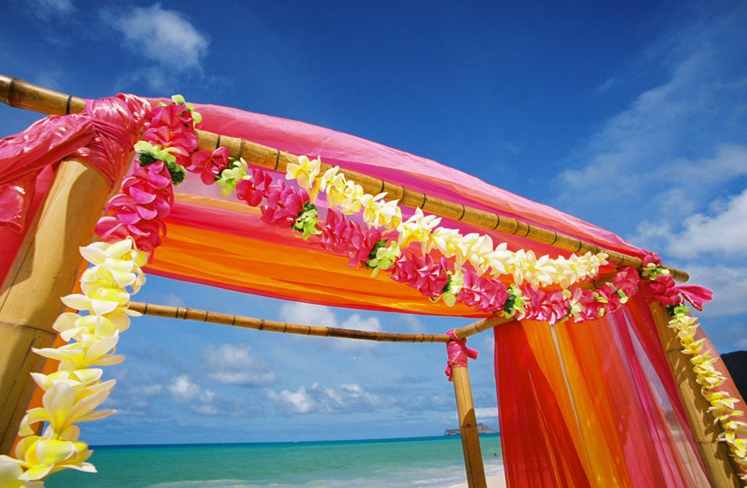 James and Julia 39s gazebo design used orange pink Indian sunset