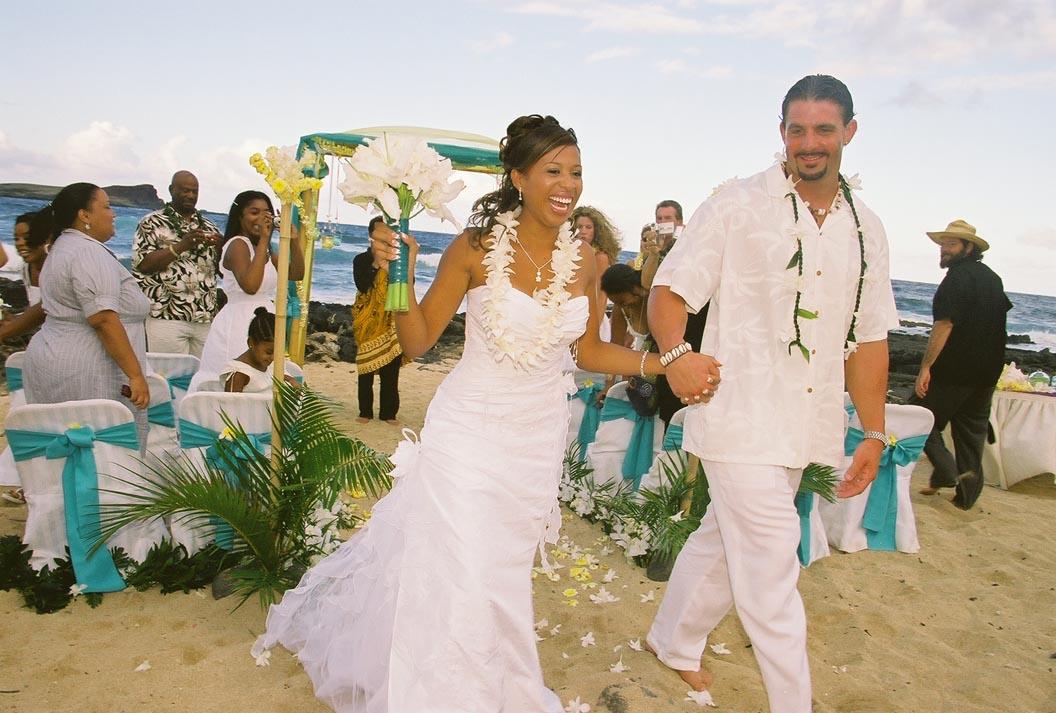 Jamillah brandon hawaiian wedding hawaii beach weddings jamillah brandon hawaiian wedding junglespirit Images